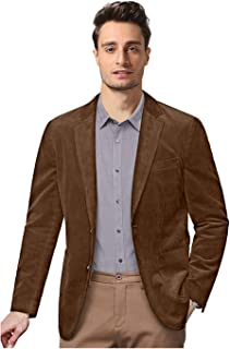GATMSTZ Men's Casual Corduroy Blazer Vintage Notch Lapel Regular Fit Suit Jacket