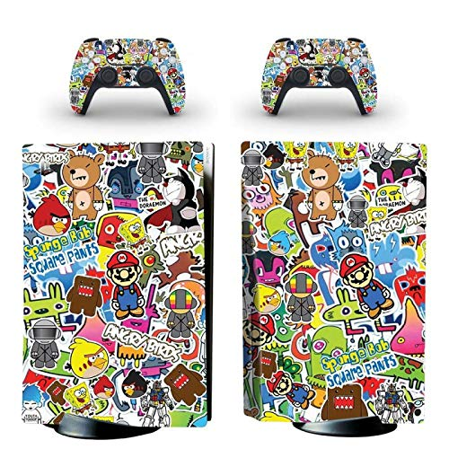 FENGLING PS5 Standard Disc Edition Skin Sticker Cover para consola y controladores PS5 Skin Sticker