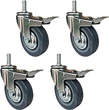 4 stks Polyurethaan Meubilair Castor Wheels Heavy Duty Swivel Caster Wheels, 4inch 100mm Industrial Trolley Caster Wheels,...