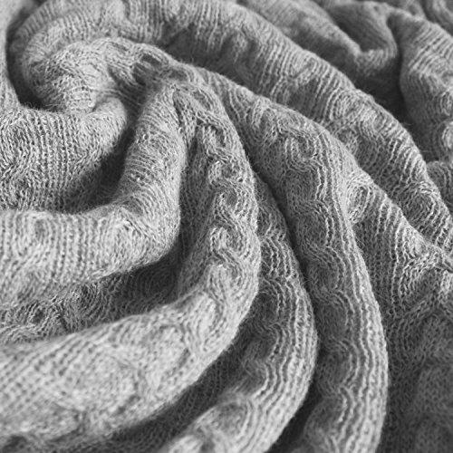 Lorenzo Cana voluminöse Luxus Alpakadecke aus 100% Alpaka - Wolle vom Baby - Alpaka Fair Trade Decke Wohndecke gestrickt Sofadecke Tagesdecke Kuscheldecke 9603577