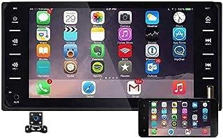 Doppel Din Auto Stereo Radio 7 Zoll Touchscreen Bluetooth FM Radio Receiver mit USB AUX in Port Unterstützung Smart Phone Mirror Link + Mini 4 LEDs Backup Kamera für Toyota Corolla