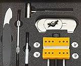 ジャパンホビーツール 時計修理工具セット メンテナンスツールキット ブラック 箱なし