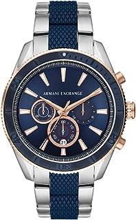 A|X Armani Exchange Men's AX1819 Chronograph Analog Display Analog Quartz Blue Watch