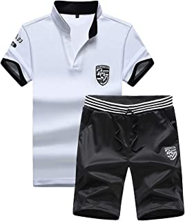 Men's Casual Tracksuit - Summer Shorts Outfits Jogging Athletic Sports Set