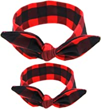 ZOONAI 2PCS Mom and Baby Rabbit Ears Headband Parent Child Knot Hair Bands Infant Hair Accessories