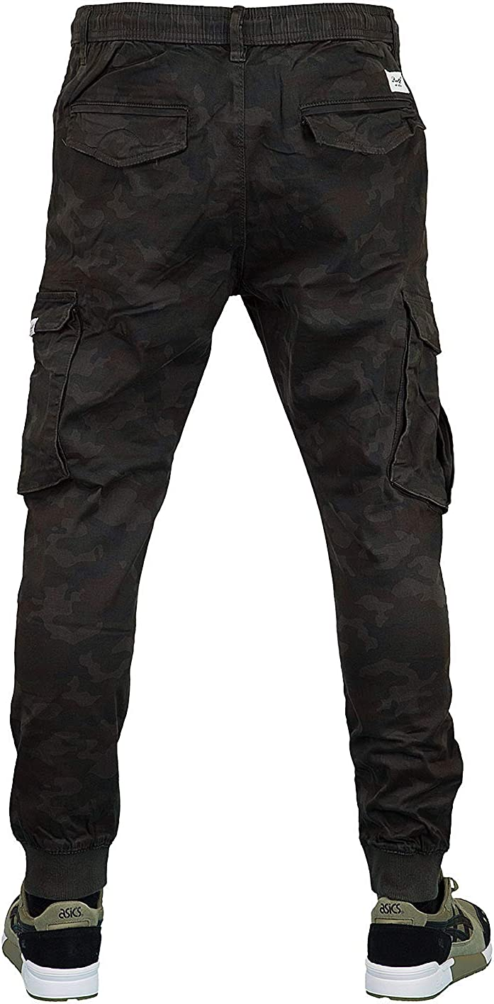 Reell Reflex Rib Cargo Trousers Black (Black Camo)