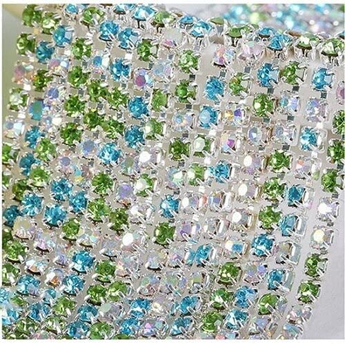 L2S 10M Crystal Rhinestone Chain Silver Spring new work Base 3mm Challenge the lowest price of Japan ☆ 2.5 Claw 2 2.8