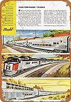 1956バッドニューヘブンPRRとサンタフェ車グッズ壁アート