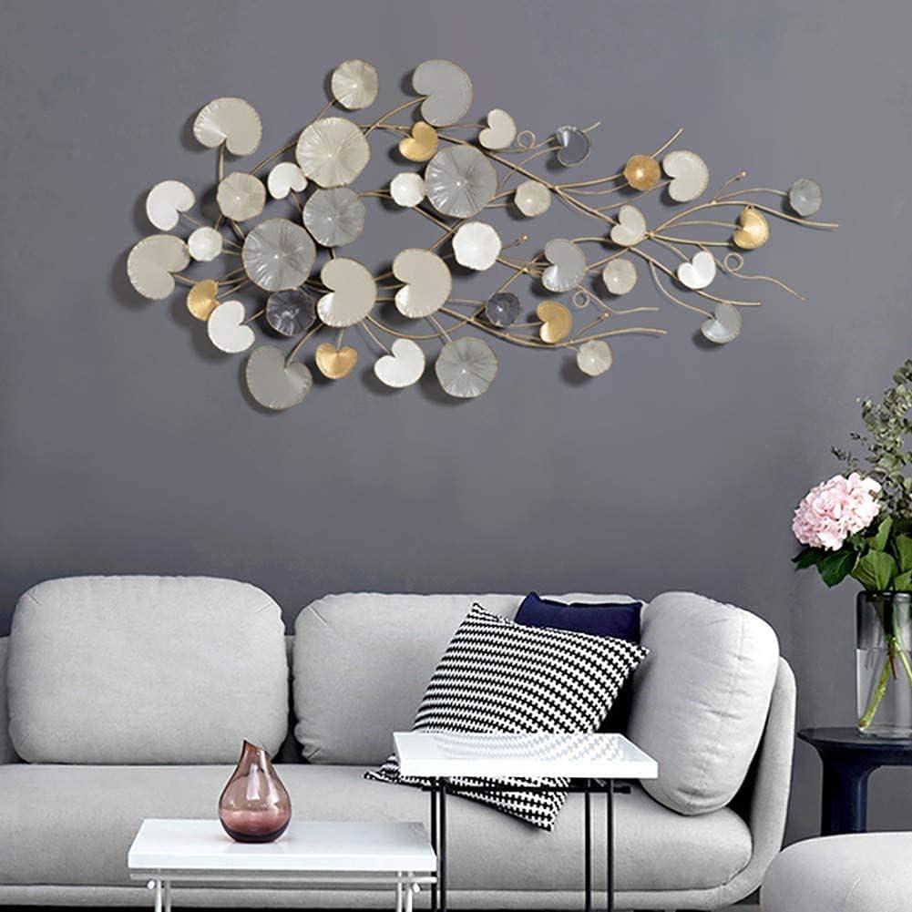 3D Modern Style New product!! Wall Decoration Lea Art Metal Luxury Regular dealer