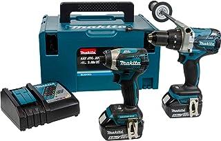 Makita DLX2176TJ 18 V Li-ion LXT Brushless 2 Piece Kit comprising Combi Drill, Impact Driver with 2 x 5.0 Ah Li-ion Batter...