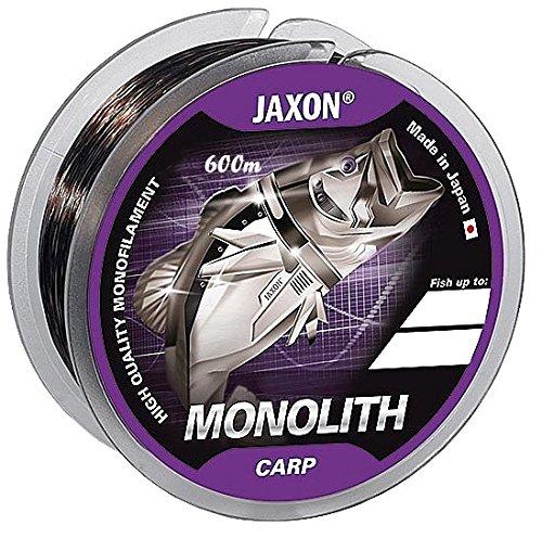 Jaxon Angelschnur Monolith CARP 0,25-0,35mm/600m Spule Monofil Karpfen Schnur (Ø 0,27mm / Tragkraft 15kg)