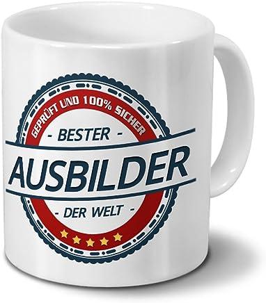Preisvergleich für Tasse mit Beruf Ausbilder - Motiv Berufe - Kaffeebecher, Mug, Becher, Kaffeetasse - Farbe Weiß