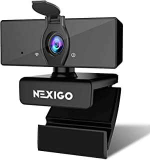 1080P Business Webcam with Dual Microphone & Privacy Cover, 2020 [Upgraded] NexiGo USB FHD Web Computer Camera, Plug and P...
