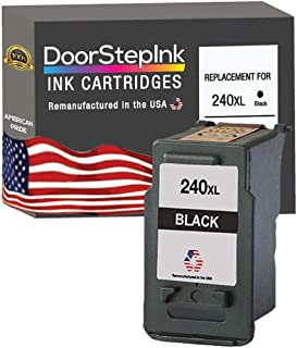 DoorStepInk Remanufactured in The USA Ink Cartridge Replacement for Canon PG-240XL 240 XL Black for Canon Pixma MG3122 MG3...