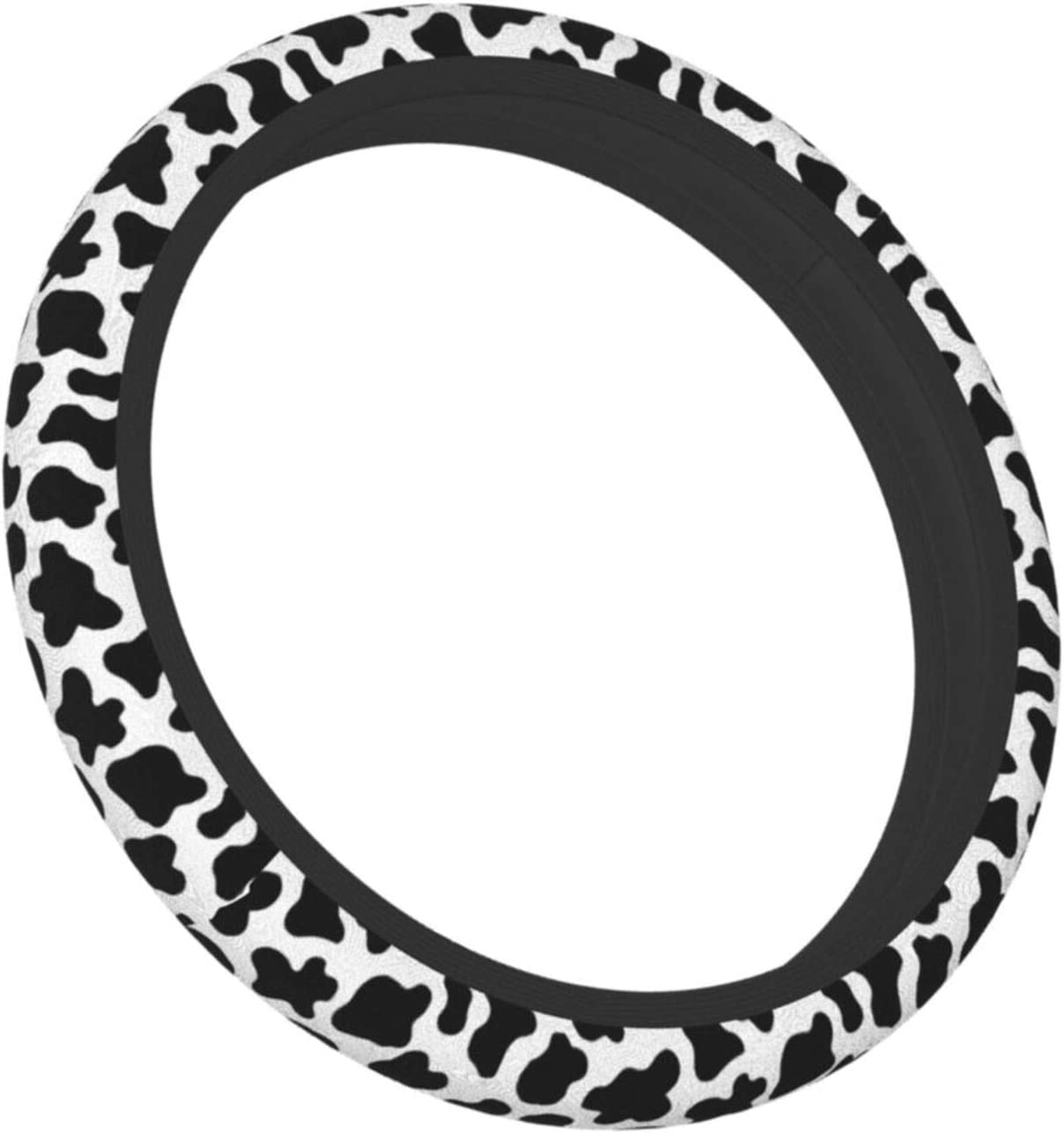 Los Angeles Mall MSGUIDE Cow Print online shopping Steering Wheel Cover Univ inch 15 Women for 14