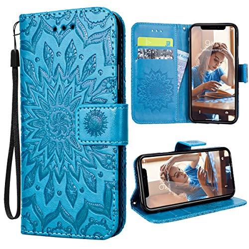 VemMore f/ür HTC U11 H/ülle Handyh/ülle Schutzh/ülle Leder PU Wallet Flip Case Bumper Lederh/ülle Ledertasche Blumen Muster Klapph/ülle Klappbar Magnetisch D/ünn Silikon Sonnenblume Rot