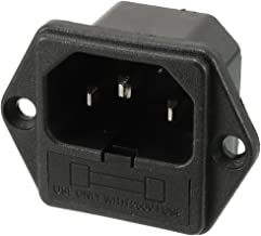 uxcell AC 250V 10A IEC320 C14 Male Power Cord Inlet Socket with Fuse Holder