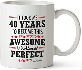 40th Birthday Gifts For Women Forty Years Old Men Gift Mugs Happy Funny 40 Mens Womens Womans Wifes Female Man Best Friend...