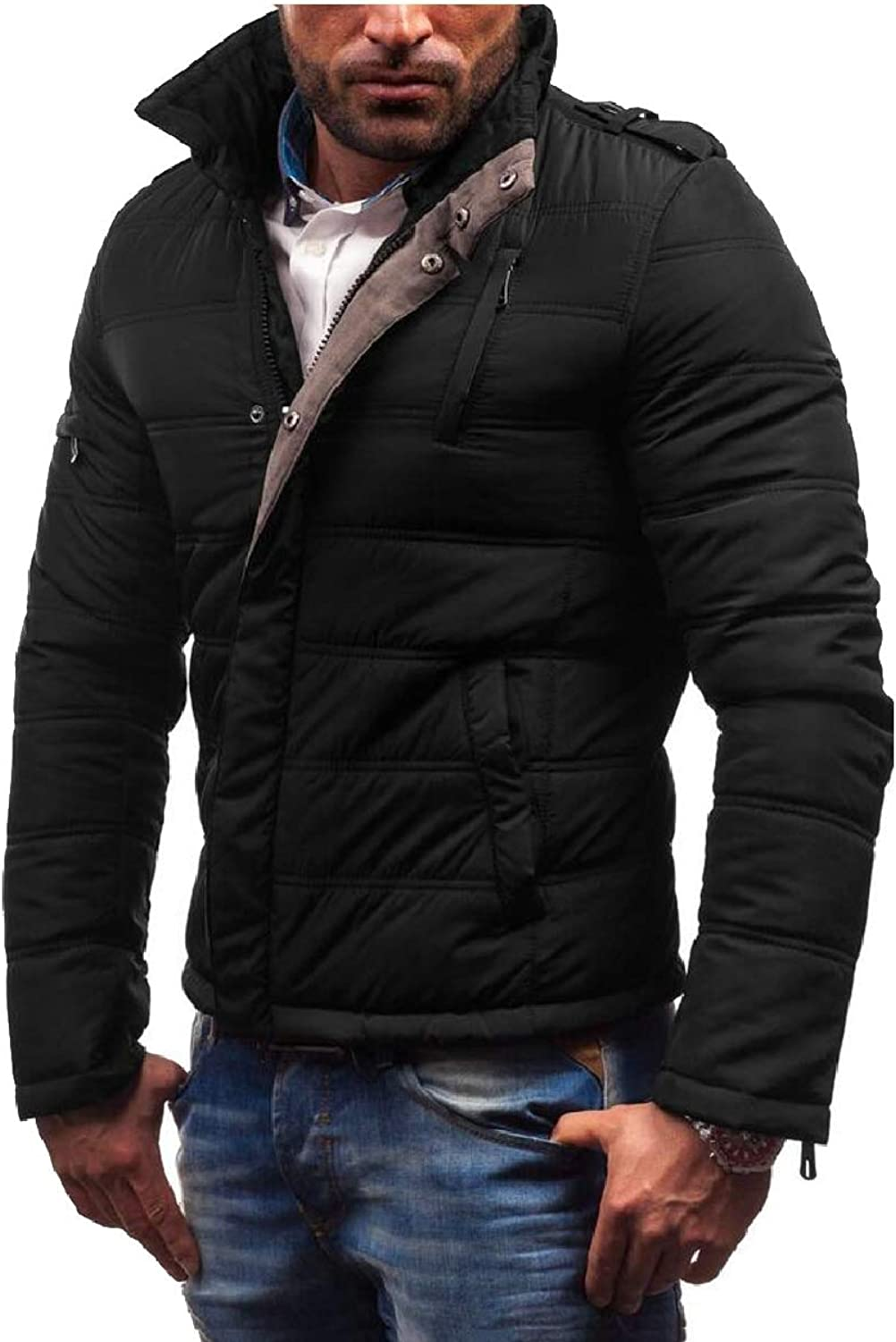 - LEISHOP Mens Winter Warm Warm Warm Waterproof Elbow Patch Outwear Padded Coat Jacket 7dc0ad