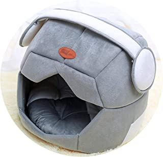 ZZmeet New Winter Warm Fleece Pet Cat Sleeping Bags Space Cap is Creative and Breathable Bed with Cushion Pet Rabbit Hamster House