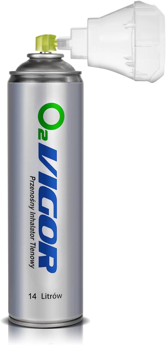 Oxigenoterapia Inhalador Portátil De Oxígeno En Lata 14 Litros Con Máscarilla Peso De Lata 180gramos Longitud De Lata 31cm Amazon Es Salud Y Cuidado Personal