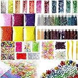 Noblik Slime-Perlen, 55 Stück, inklusive Fischglas-Perlen, Schaumstoffkugeln, Glitzer-Gläser,...