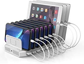 Unitek USB C Charging Station, 120W 10 Port Type C Charging Organizer for Multiple Devices, iPhone, Smartphones, Tablets, Supports 8 iPads Charging Simultaneously- [UL Certified]