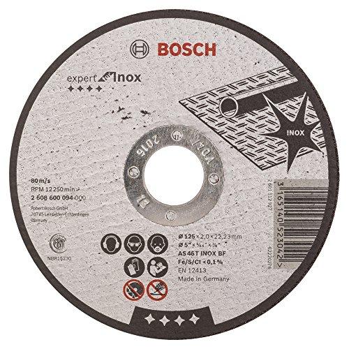 Bosch 2608600094–-Trennscheibe gerade Expert for Inox AS 46T INOX BF, 125mm, 2,0mm (Pack von 1)