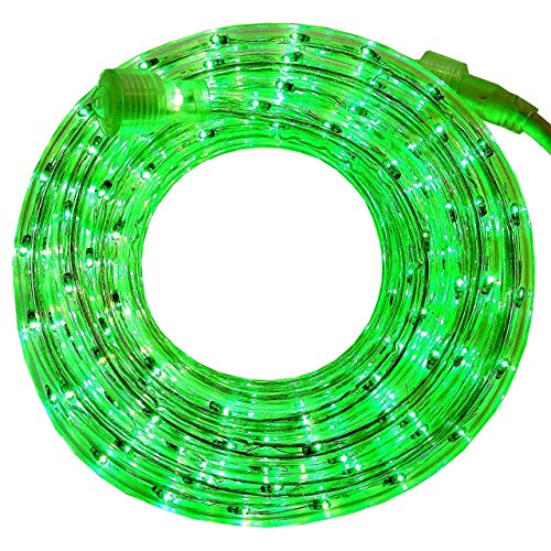 PERSIK 18 Feet Green Rope Light for Indoor and Outdoor use