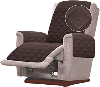 Best RHF Diamond Chair Covers, Recliner Cover, Chair Covers for Living Room, Chair Cover for Dogs, Recliner Chair Cover, Machine Washable, Double Diamond Quilted(Recliner-Small: Chocolate/Beige) Review