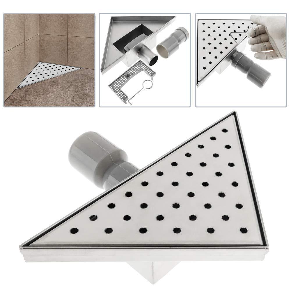 PrimeMatik - Canaleta de desagüe para Ducha Triangular 20 cm con Rejilla para Esquina: Amazon.es: Electrónica