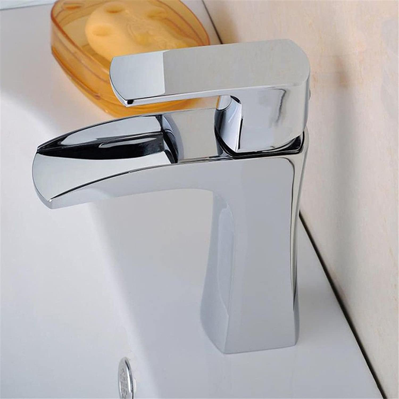 Küchenarmatur Waschtischarmatur Wasserfall Wasserhahn Badarmatur Waschbecken Kupfer heien und kalten Waschbecken Waschbecken Wasserhahn Single-Connector-Schraubenschlüssel Wasserhahn