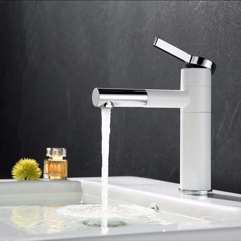LHbox Die kupferne Becken Ziehen Wasserhahn Warmes und Kaltes Drehen Sie Den WC-Tpfe von Schwarzen und weien Lack Wasserhhne,