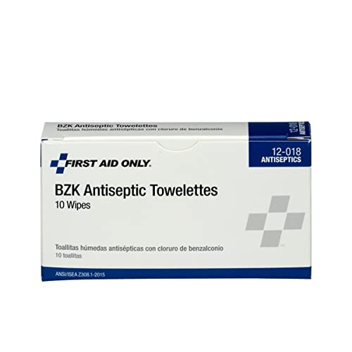 First Aid Only Pac-Kit 12-018 Benzalkonium Chloride Antiseptic Towelette (Box of
