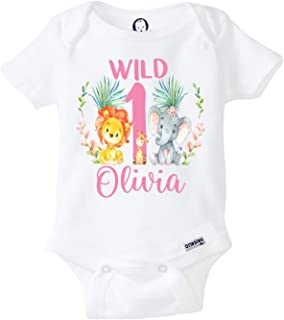 Zoo Birthday Shirt First Birthday Girl Onesie Jungle Birthday Shirt Wild One Birthday Outfit Elephant Birthday Shirt Zoo Animals Birthday Shirt