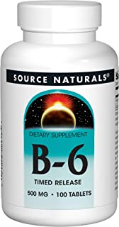 Source Naturals - B-6/Timed Release, 500 mg, 100 tablets