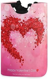 N\A Grand Sac de Panier à Linge Pliable avec poignées, boîte de Panier à Linge à thème de la Saint-Valentin Grand Organisa...