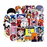 XIAMU Dibujos Animados Anime Evangelion Pegatina Génesis cómic japonés Impermeable Escuela Secundaria DXD Pegatinas Coche Maleta Guitarra 50 Uds