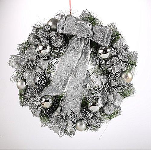 ZHongWei - Corona de Navidad Corona navideña - Guirnalda de decoración navideña Puerta Joyería Regalo Ventana Escena de la Barra Accesorios (4 Colores Disponibles) Arboles de Navidad