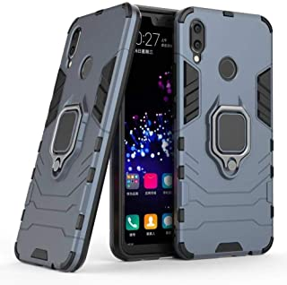 Huawei Nova 3 Iron Man 2018 Protection Cover Case With Metal Ring & Magnetic Car holder, Navy Blue