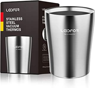 Leidfor Wine Tumbler Stainless Steel Double - Insulated Vacuum Wine Glass Cup Keep Cold Perfect For Wine Beer Coffee Unbreakable Drink-ware 8 oz