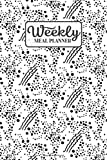 Weekly Meal Planner: Meal Planning Journal Notebook with Grocery Shopping List for the Week - Abstract Ink Blots (Organizer Log to Track and Plan Your Meals - Pretty Floral)