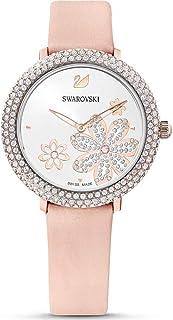 Swarovski Crystal Frost 5519223 Montre pour femme avec bracelet en cuir rose PVD plaqué or rose