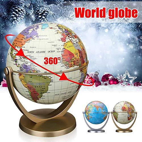 Piner 360 Grados de rotación de los océanos El Globo terráqueo Mundial Gira en Todas Las direcciones Geografía Mundial Mapa Decoración Niños tpys