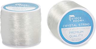 0.8mm Clear Elastic String for Jewelry Making and Beading (328 Yards, 2 Pack)