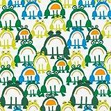 Cloud 9 Fabrics - Bio Baumwollstoff Meterware mit Fröschen