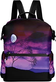 Backpack Rucksack Travel Daypack Bright Moon Tree Midnight Werewolf Student School Book Bag Casual Travel Waterproof
