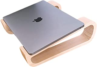 Eco-Friendly Laptop Stand for Desk Portable Bamboo ✮ Easy Transport and Ergonomic ✮ Cooling Computer Stand, Desktop Lap Desk Table Tray, Laptop Riser, Laptop Cooler for MacBook & PC 11, 13, 15 inches