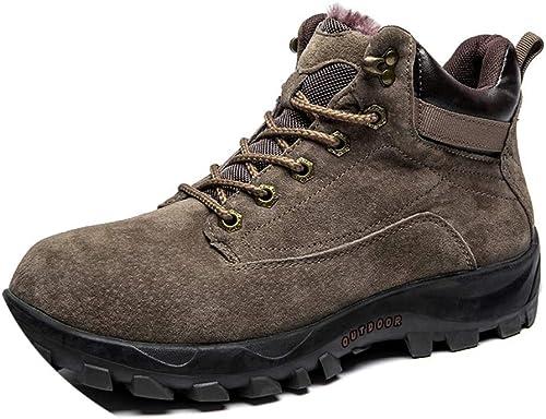 Chaussures Chaussures De Randonnée en Plein Air, Velours pour Hommes en Hiver, Chaussures en Coton pour Hommes, Chaussures De Marche De Grande Taille, Chaussures Simples