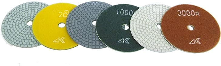 4 Inch Alpha Ceramica Dry Polishing Pad for Natural Stone - Full Set